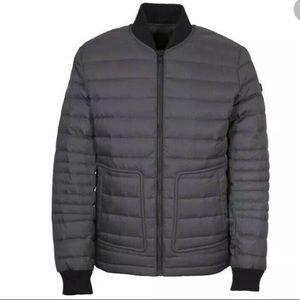 NWT Orobos Men's Basic Down NAVY bomber jacket